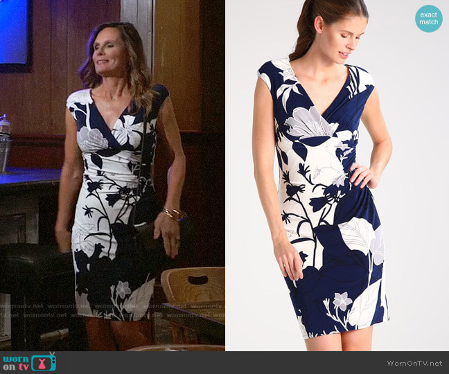 LAUREN Ralph Lauren Adarita Dress worn by Lucy Coe (Lynn Herring) on General Hospital