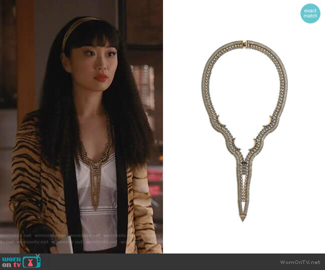 Hudson Necklace by Lionette by Noa Sade worn by Alice Lee on Take Two