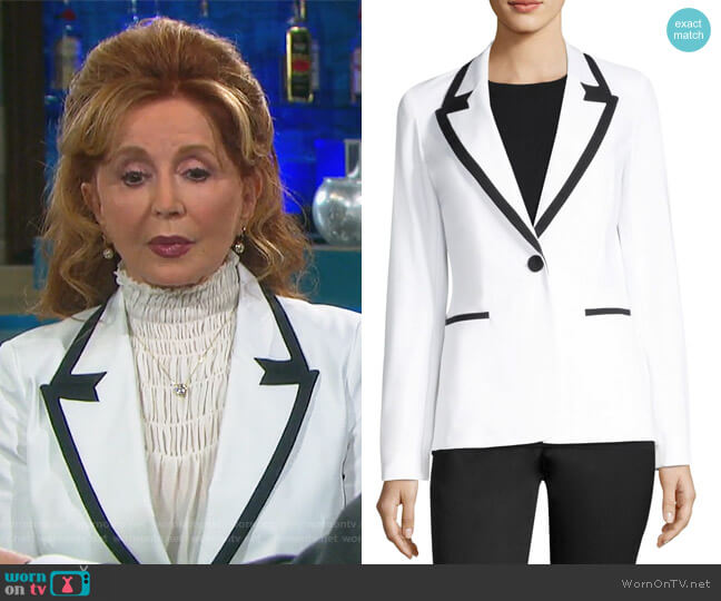 Briley Contrast Banding Blazer by Lafayette 148 New York worn by Maggie Horton (Suzanne Rogers) on Days of our Lives
