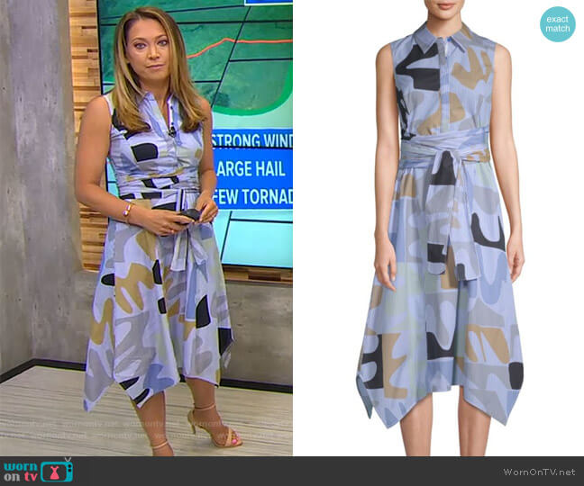 Cordelia Dress by Lafayette 148 New York worn by Ginger Zee  on Good Morning America