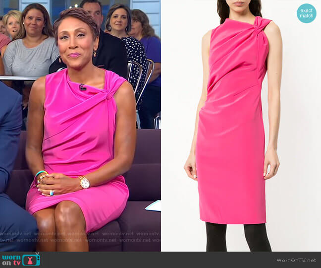 Fitted Mid-Length Dress by Lanvin worn by Robin Roberts (Robin Roberts) on Good Morning America