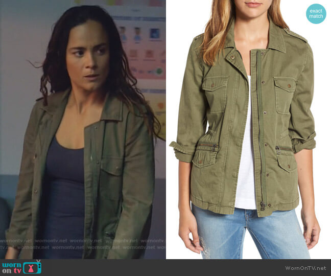 Ruby Jacket by Velvet by Graham & Spencer worn by Alice Braga on Queen of the South
