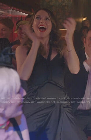 Liza's black twisted dress on Younger
