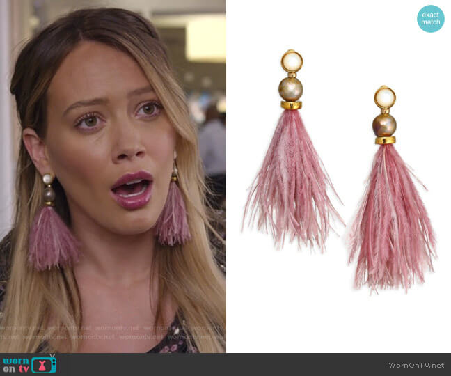 Parker Earrings by Lizzie Fortunato worn by Hilary Duff on Younger