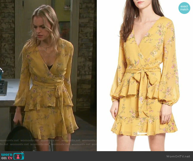 Floral Wrap Style Dress by Love, Fire worn by Olivia Rose Keegan on Days of our Lives