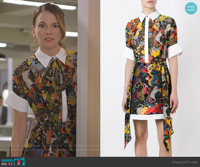 Hayward Dress by Mary Katrantzou worn by Liza Miller (Sutton Foster) on Younger