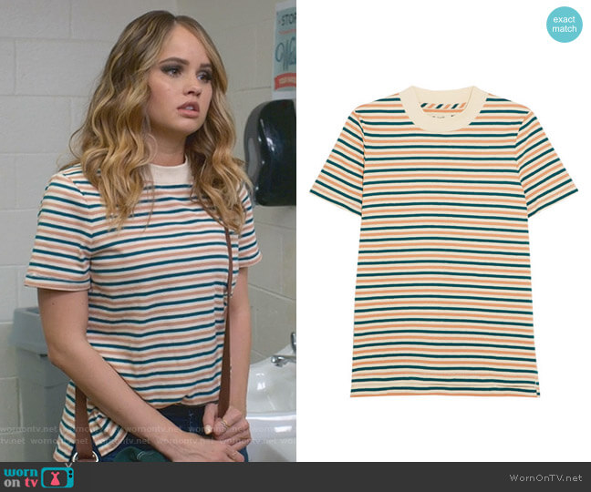 Striped T-shirt by Madewell worn by Patty Bladell (Debby Ryan) on Insatiable