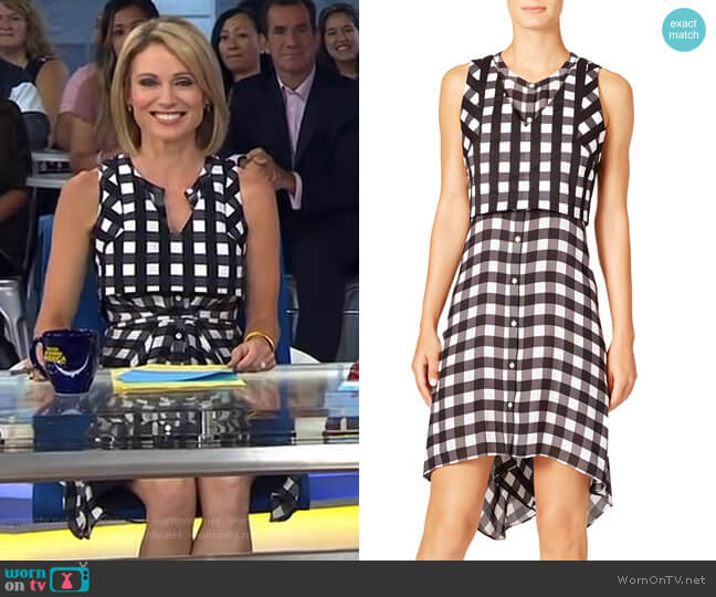 Checkmate Farica Dress by Marissa Webb worn by Amy Robach  on Good Morning America