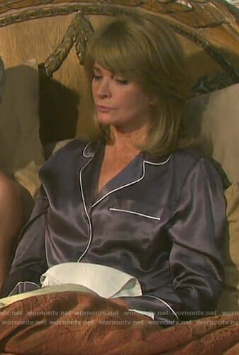 Marlena's grey pajama set on Days of our Lives