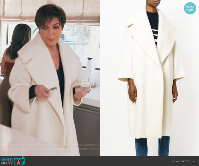 Oversized Coat by Max Mara worn by Kris Jenner on Keeping Up with the Kardashians