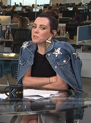 Melanie's star embellished denim jacket on Live from E!