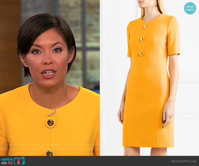 Wool-Blend Crepe Dress by Michael Kors worn by Alex Wagner (Alex Wagner) on CBS This Morning