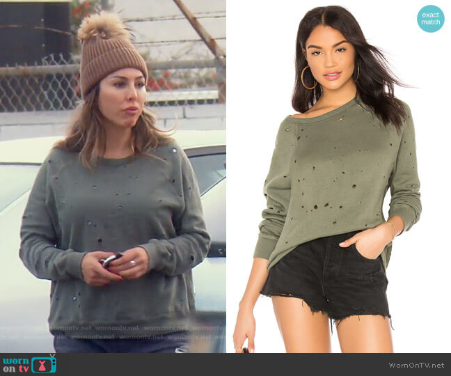 Renzo Pullover by Michael Lauren worn by Kelly Dodd on The Real Housewives of Orange County