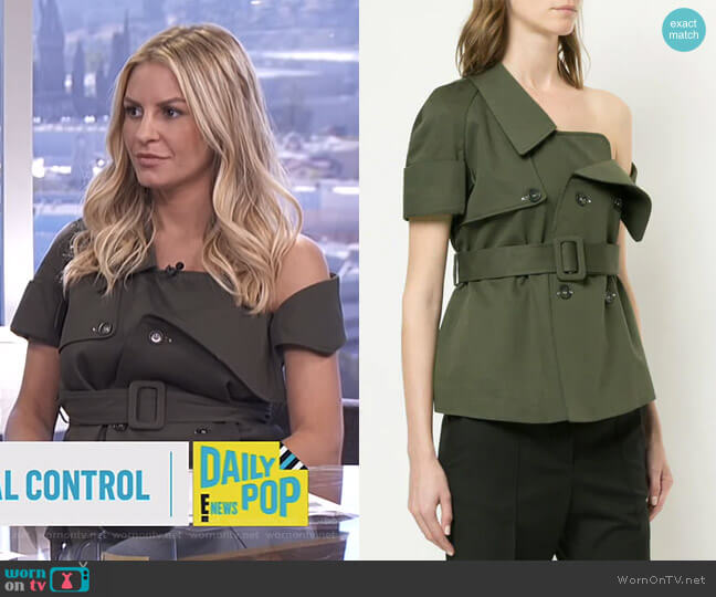 Deconstructed Trench Jacket by Monographie worn by Morgan Stewart  on E! News