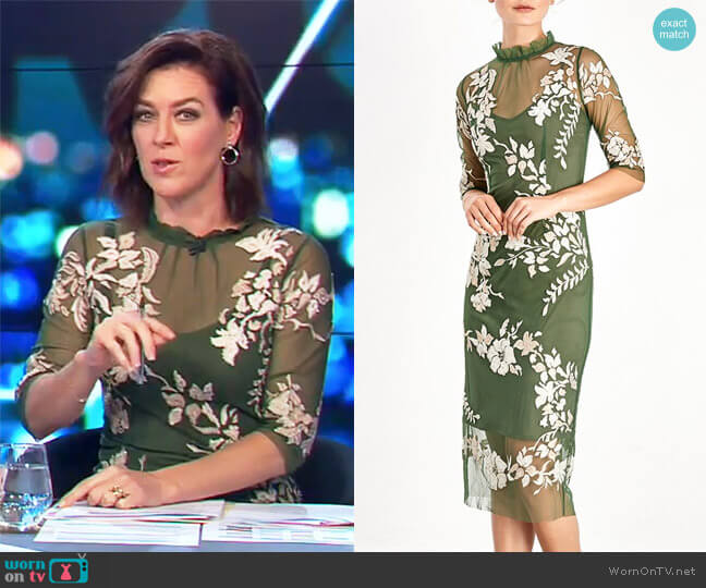 Mirabell Dress by Moss and Spy worn by Gorgi Coghlan  on The Project