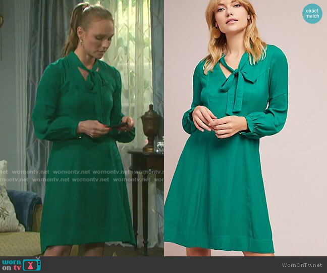 Gina Dress by Moulinette Soeurs worn by Marci Miller on Days of our Lives