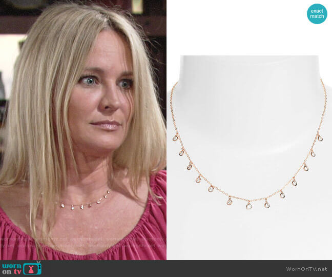 Nadri Shaker Crystal Necklace  worn by Sharon Collins (Sharon Case) on The Young & the Restless