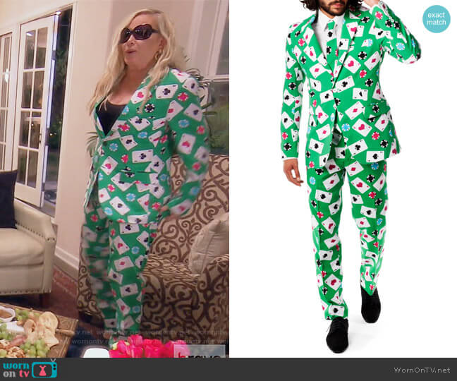 'Poker Face' Trim Fit Suit with Tie by Opposuits worn by Shannon Beador  on The Real Housewives of Orange County
