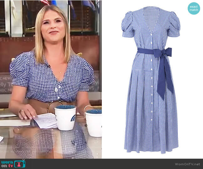 Gingham Jenna Dress by Petersyn worn by Jenna Bush Hager on Today