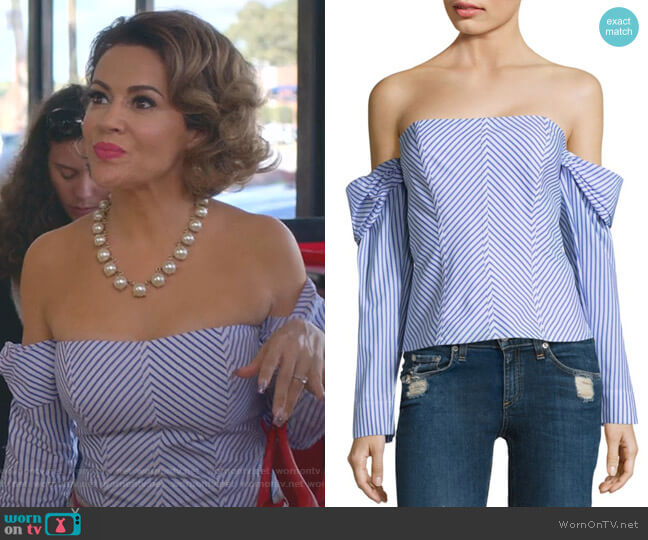 Jack Top by Petersyn worn by Coralee Armstrong (Alyssa Milano) on Insatiable