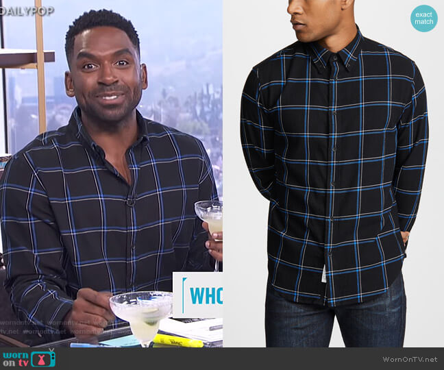 Fit 2 Tomlin Shirt by Rag & Bone worn by Justin Sylvester  on E! News