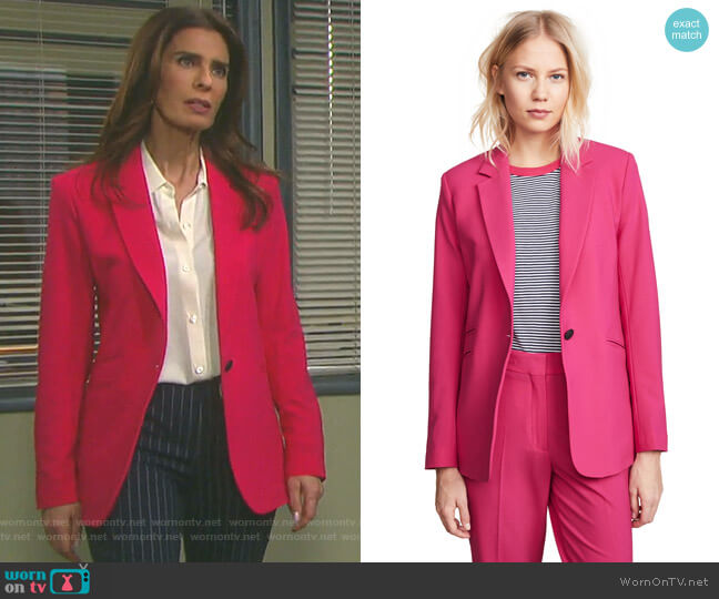 Ridley Blazer by Rag & Bone worn by Hope Williams (Kristian Alfonso) on Days of our Lives