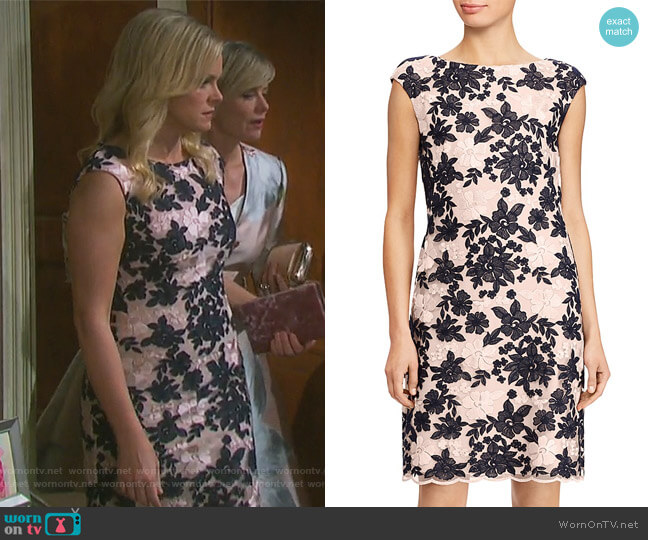 Floral Lace Dress by Ralph Lauren worn by Belle Brady (Martha Madison) on Days of our Lives