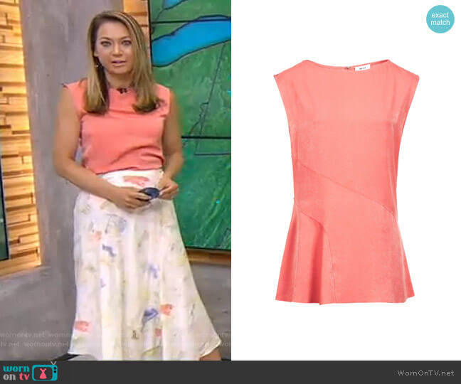Islia Top by Reiss worn by Ginger Zee on Good Morning America
