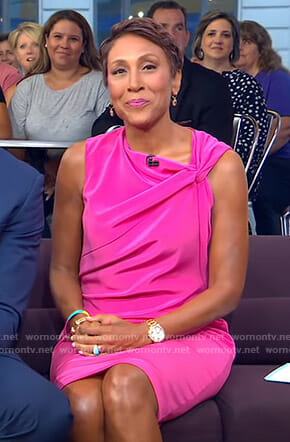 Robin's pink sleeveless dress on Good Morning America