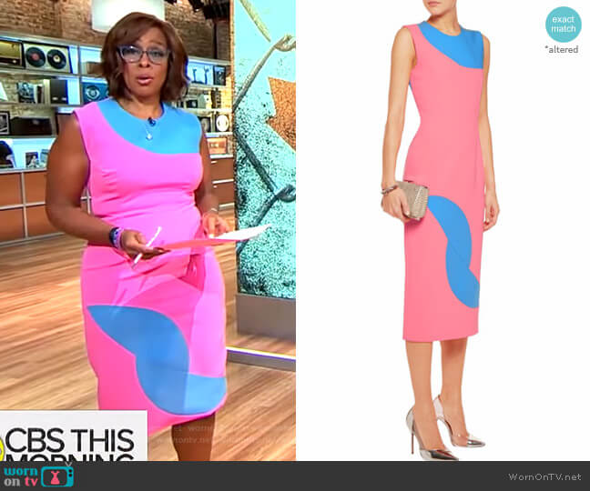 Allerton Dress by Roksanda worn by Gayle King  on CBS This Morning