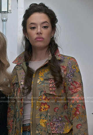 Roxy's floral utility jacket on Insatiable