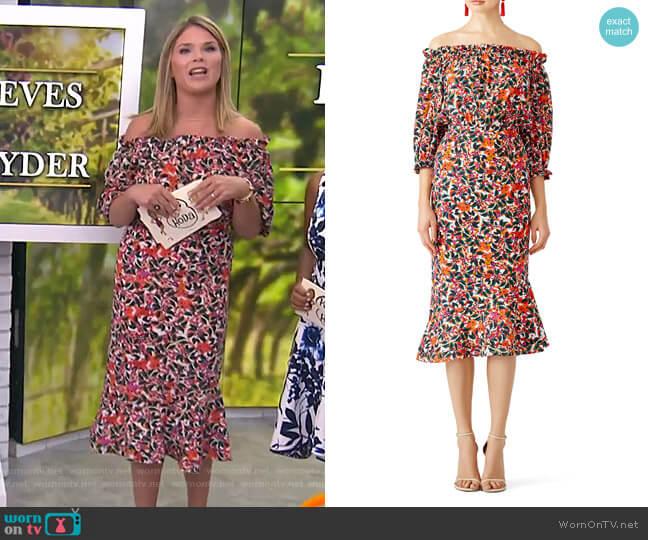 Grace Dress by Saloni worn by Jenna Bush Hager  on Today