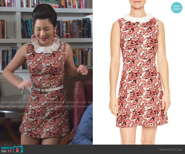 Edwige Dress by Sandro worn by Dixie Sinclair (Irene Choi) on Insatiable