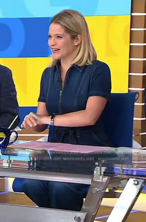 Sara's denim jumpsuit on Good Morning America
