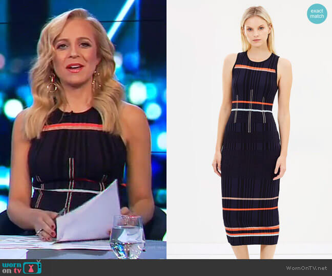 Ten Tigers Knit Dress by Sass & Bide worn by Carrie Bickmore  on The Project