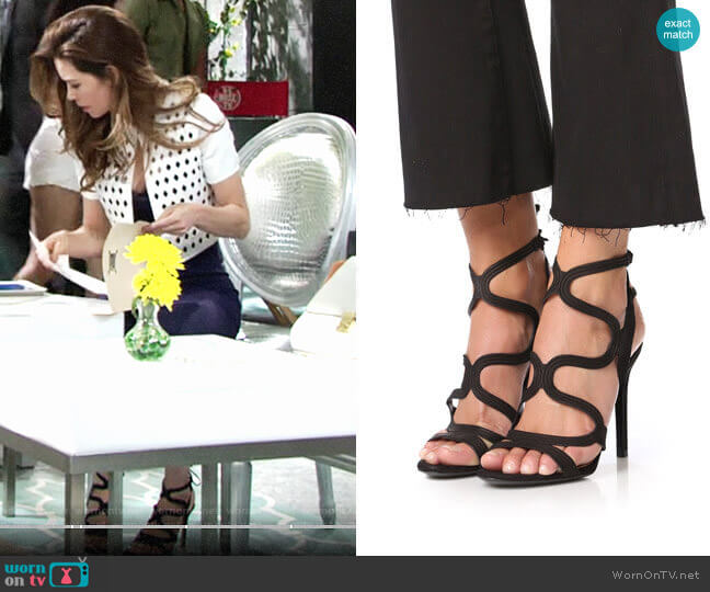 Schutz Lacie Sandals worn by Victoria Newman (Amelia Heinle) on The Young & the Restless