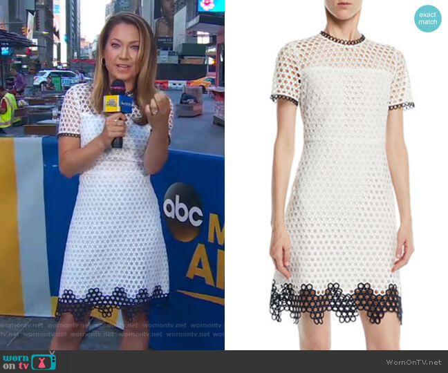 Carter Dress by Shoshanna worn by Ginger Zee on Good Morning America