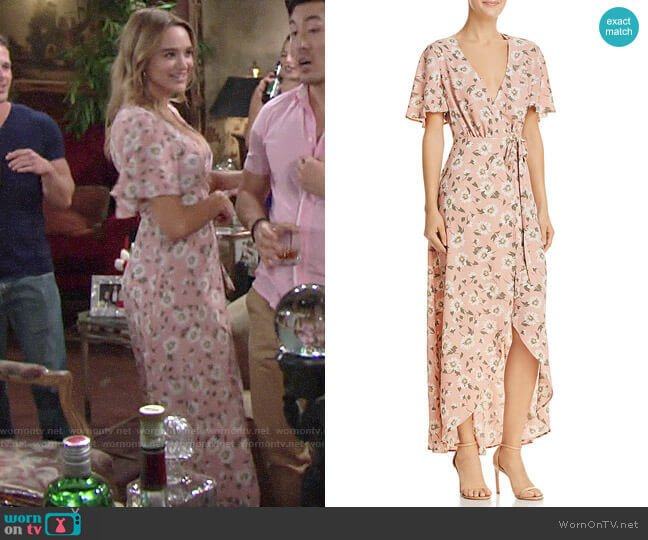 Show Me Your Mumu Marianne Maxi Wrap Dress worn by Summer Newman (Hunter King) on The Young & the Restless