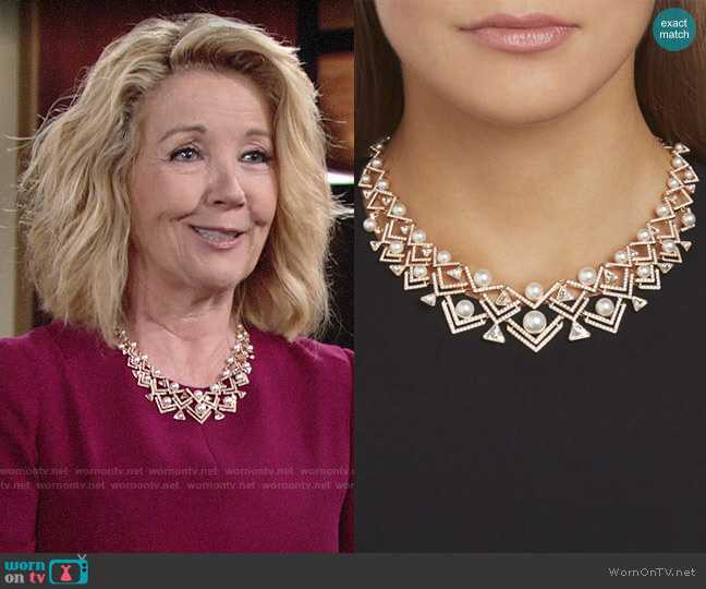 Swarovski Large Edify Necklace worn by Nikki Reed Newman (Melody Thomas-Scott) on The Young & the Restless