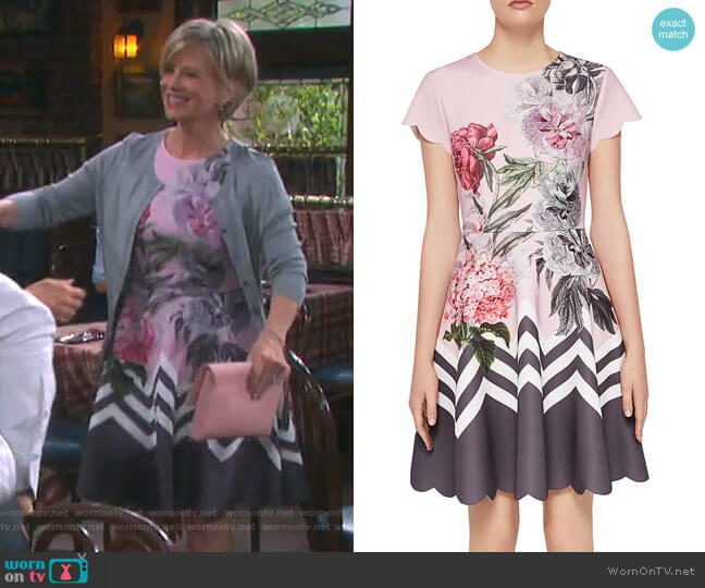 Haiilie Dress by Ted Baker worn by Kayla Brady (Mary Beth Evans) on Days of our Lives