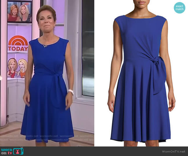 Bow-Front Sleeveless Crepe Dress by Tahari ASL worn by Kathie Lee Gifford  on Today