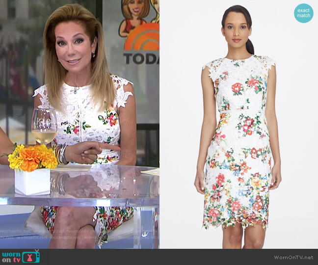 Floral Chemical Lace Sheath by Tahari ASL worn by Kathie Lee Gifford  on Today