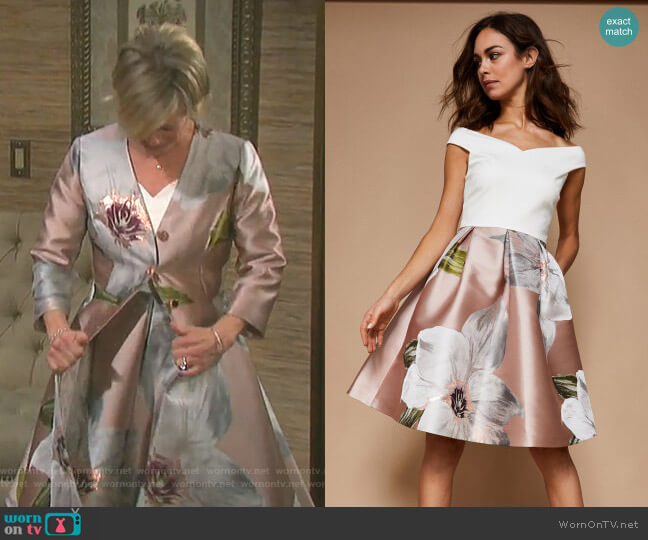 Valtia Dress by Ted Baker worn by Kayla Brady (Mary Beth Evans) on Days of our Lives