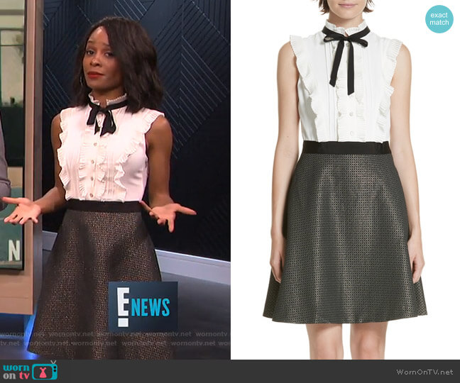 Karoll Dress by Ted Baker worn by Zuri Hall  on E! News