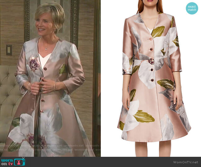 Ottie Dress Coat by Ted Baker worn by Kayla Brady (Mary Beth Evans) on Days of our Lives