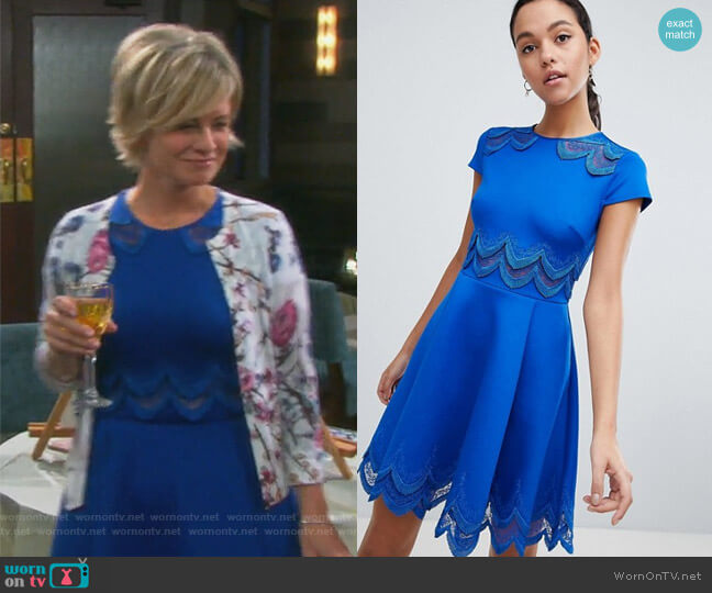 Rehanna Dress by Ted Baker worn by Kayla Brady (Mary Beth Evans) on Days of our Lives