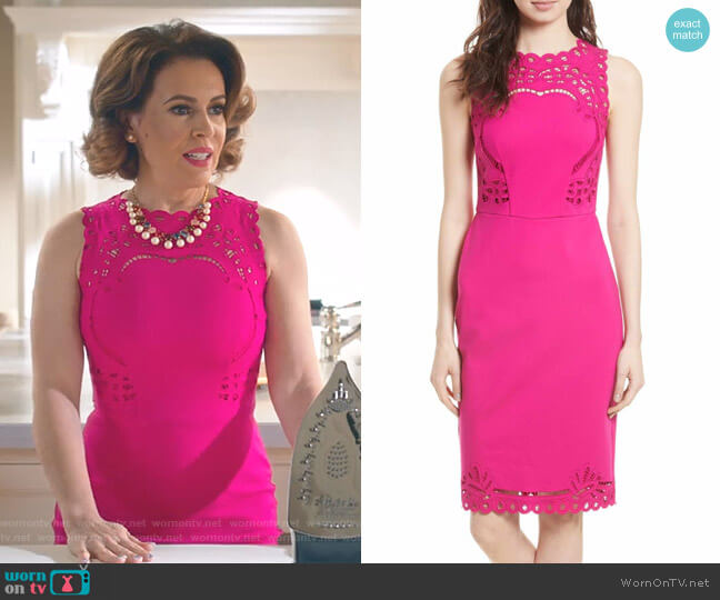 Verita Dress in Fuchsia by Ted Baker worn by Alyssa Milano on Insatiable