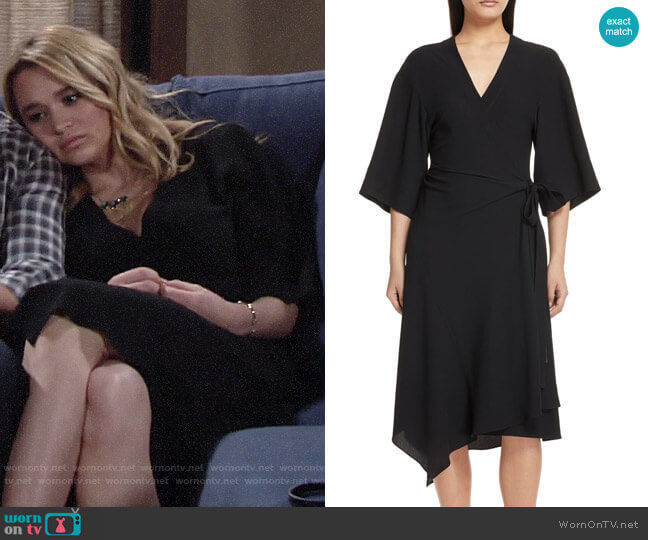 Theory Kimono Wrap Dress  worn by Summer Newman (Hunter King) on The Young & the Restless