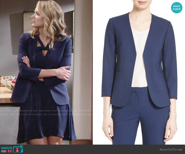 Theory Lindrayia Blazer worn by Summer Newman (Hunter King) on The Young & the Restless
