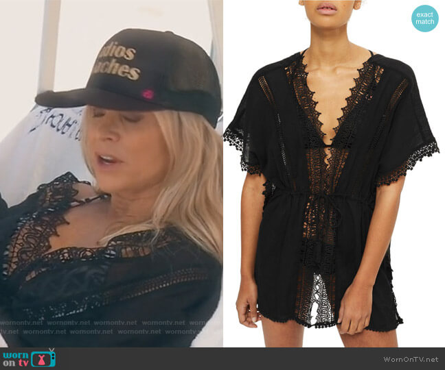 V-Neck Cover-Up Caftan by Topshop worn by Tamra Judge on The Real Housewives of Orange County